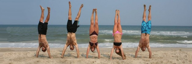 Creating Upper Body and Core Strength By Doing Handstands!